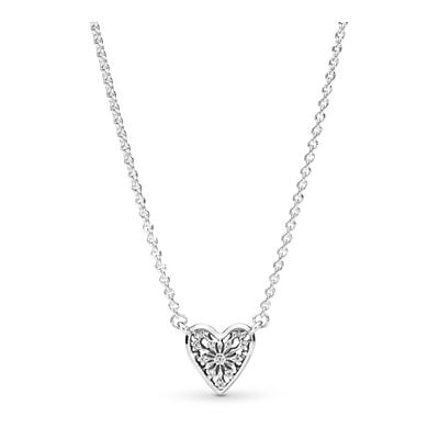 Heart of Winter Collier Necklace, Sterling silver, Cubic Zirconia - PANDORA - #396370CZ