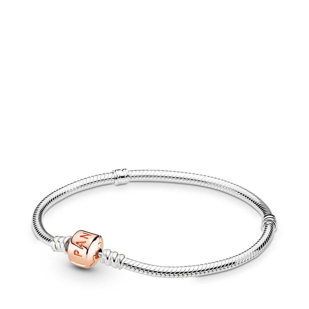 Moments Silver Bracelet with PANDORA Rose Clasp d862311d8