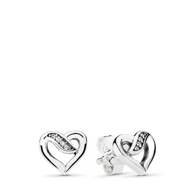 Ribbon of Love Stud Earrings