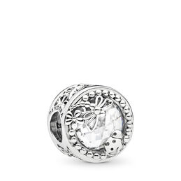 Enchanted Nature Charm, Sterling silver, Cubic Zirconia - PANDORA - #797047CZ