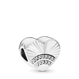 Fan of Love Charm, Sterling silver, Cubic Zirconia - PANDORA - #797288CZ