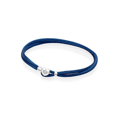 Moments Fabric Cord Bracelet, Dark Blue