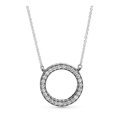 Circle Of Sparkle Necklace Sterling Silver Cubic