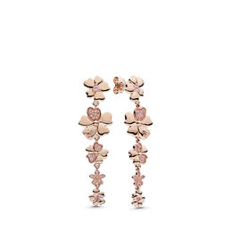 Wildflower Meadow Drop Earrings, PANDORA Rose, Pink, Mixed stones - PANDORA - #287114NPR