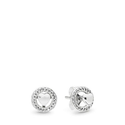 Forever PANDORA Hearts Stud Earrings