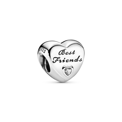 Polished Best Friends Heart Charm