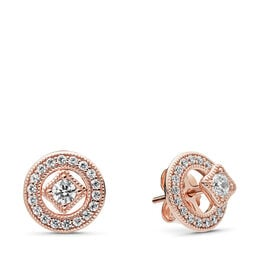 Vintage Allure Stud Earrings, PANDORA Rose, Cubic Zirconia - PANDORA - #280721CZ