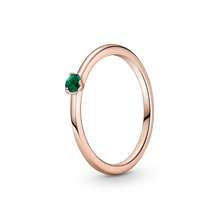 Green Solitaire Ring