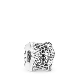Lace of Love Spacer Charm, Sterling silver, Cubic Zirconia - PANDORA - #797653CZ
