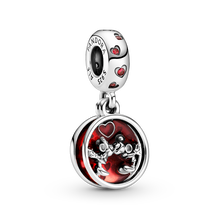 Disney Mickey Mouse & Minnie Mouse Love and Kisses Dangle Charm