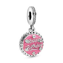 Pink Birthday Cake Dangle Charm