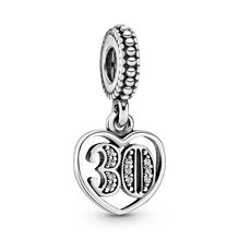 30th Celebration Dangle Charm
