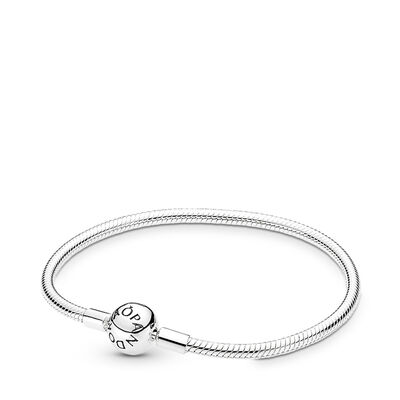 Moments Smooth Silver Clasp Bracelet