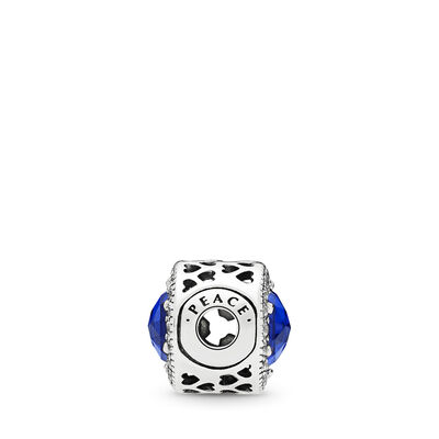 ESSENCE Peace Charm, Sterling silver, Silicone, Blue, Mixed stones - PANDORA - #796439NCB