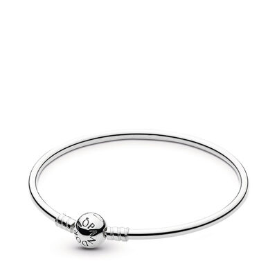 Moments Sterling Silver Charm Bangle