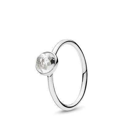 April Droplet Birthstone Ring
