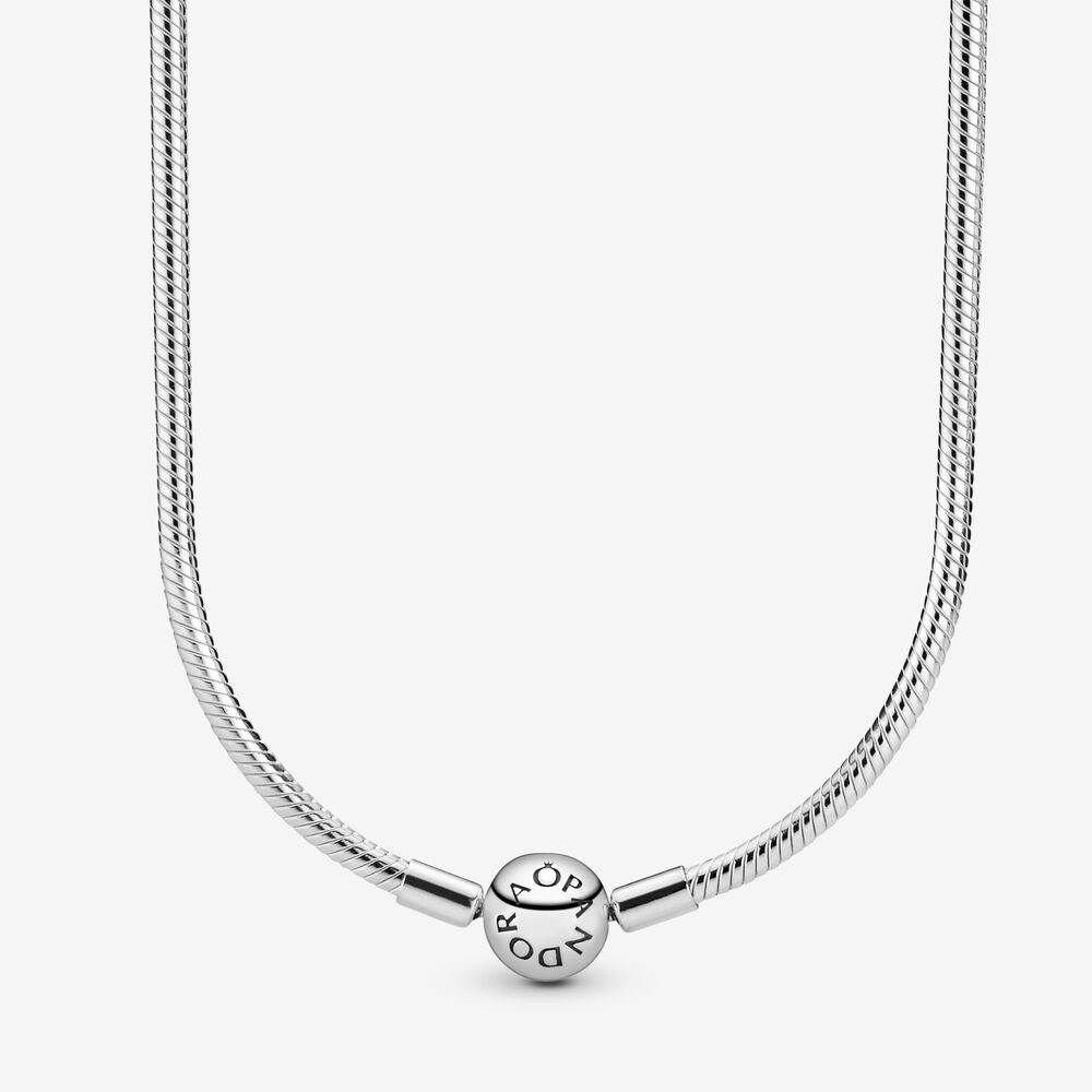 Pandora Moments Snake Chain Necklace, Sterling Silver