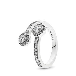 Abstract Elegance Ring, Sterling silver, Cubic Zirconia - PANDORA - #191031CZ