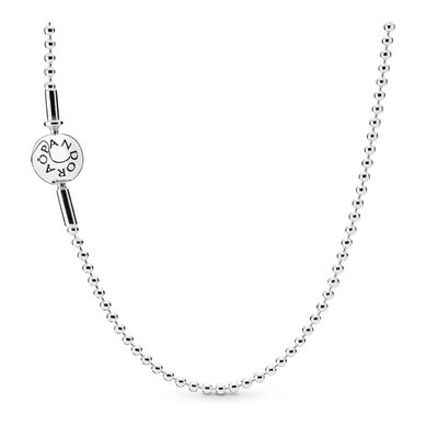 ESSENCE Beaded Silver Necklace, Sterling silver - PANDORA - #596005