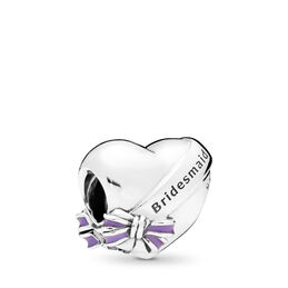 Best Bridesmaid Charm, Sterling silver, Enamel, Purple - PANDORA - #797272EN159