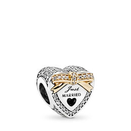 Wedding Day Charm, Two Tone, Cubic Zirconia - PANDORA - #792083CZ