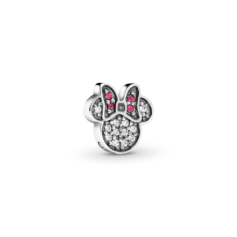 Disney, Sparkling Minnie Icon Petite Locket Charm