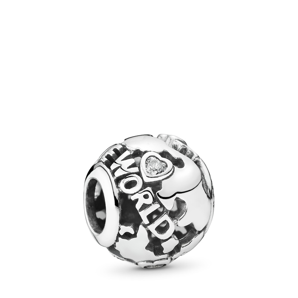 Around The World Openwork Charm