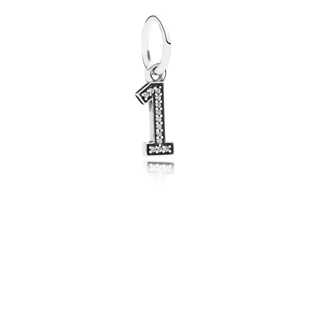Number One Pendant Charm