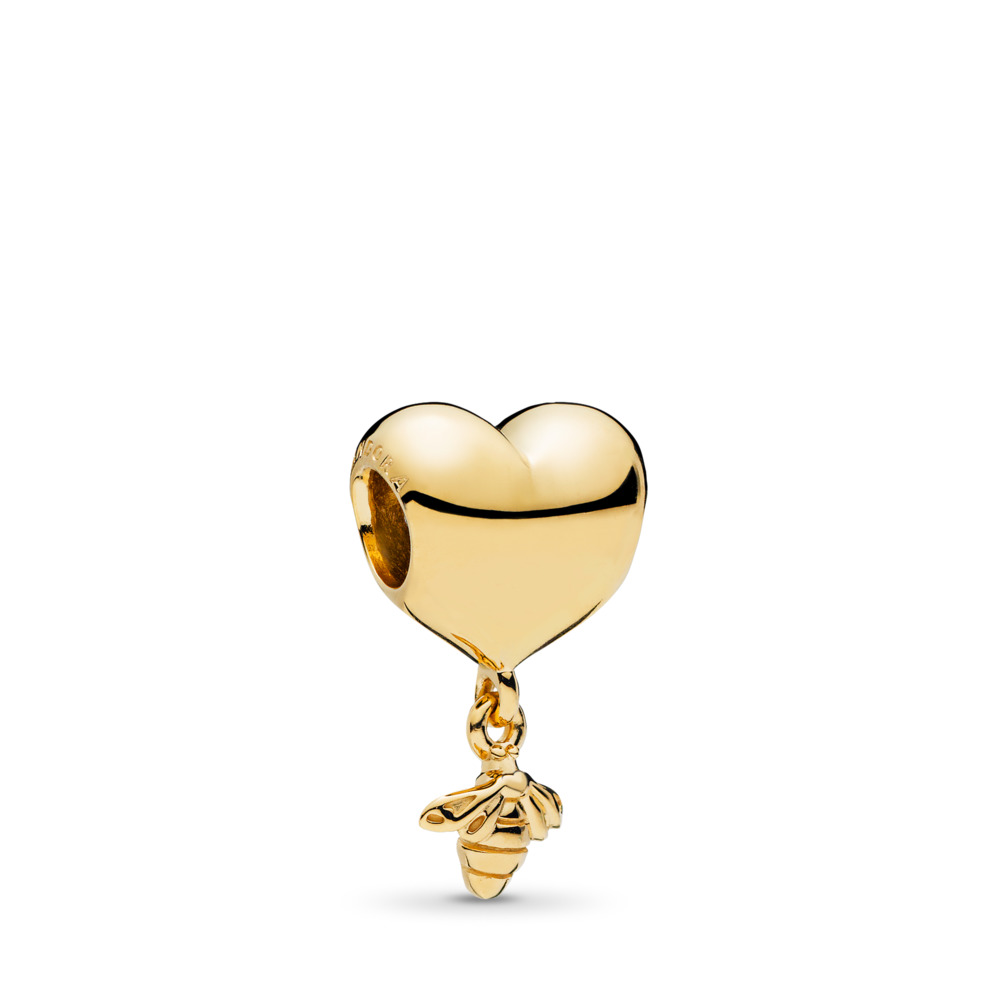 Heart and Bee Charm