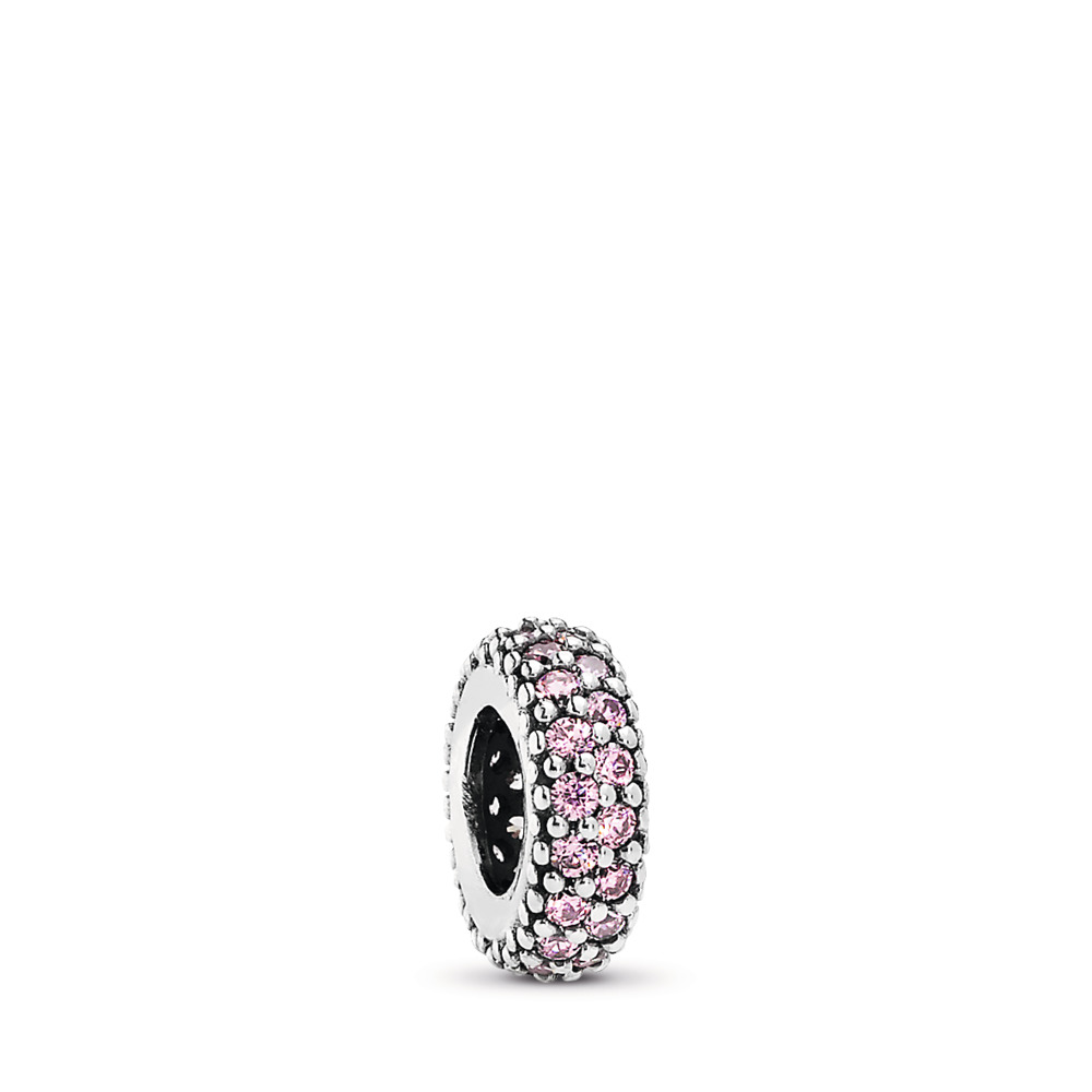Pink Pavé Inspiration Spacer Charm