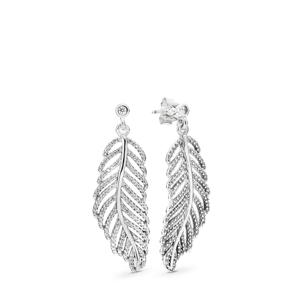 Shimmering Feathers Earrings