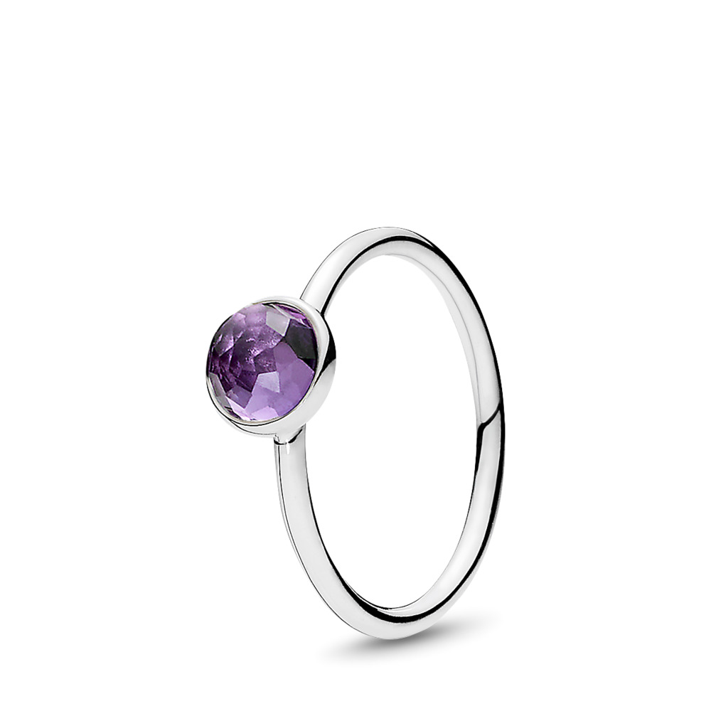February Droplet Birthstone Ring