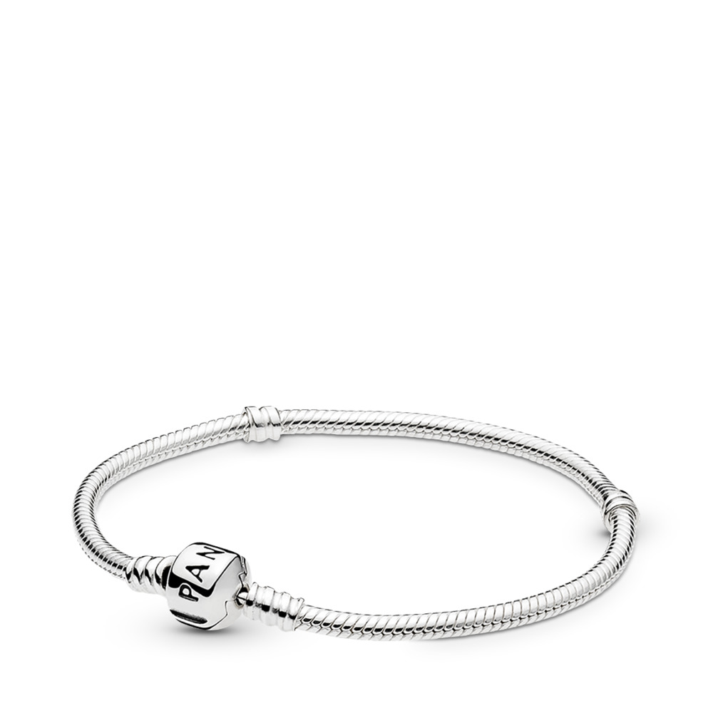 Moments Sterling Silver Charm Bracelet - Barrel Clasp