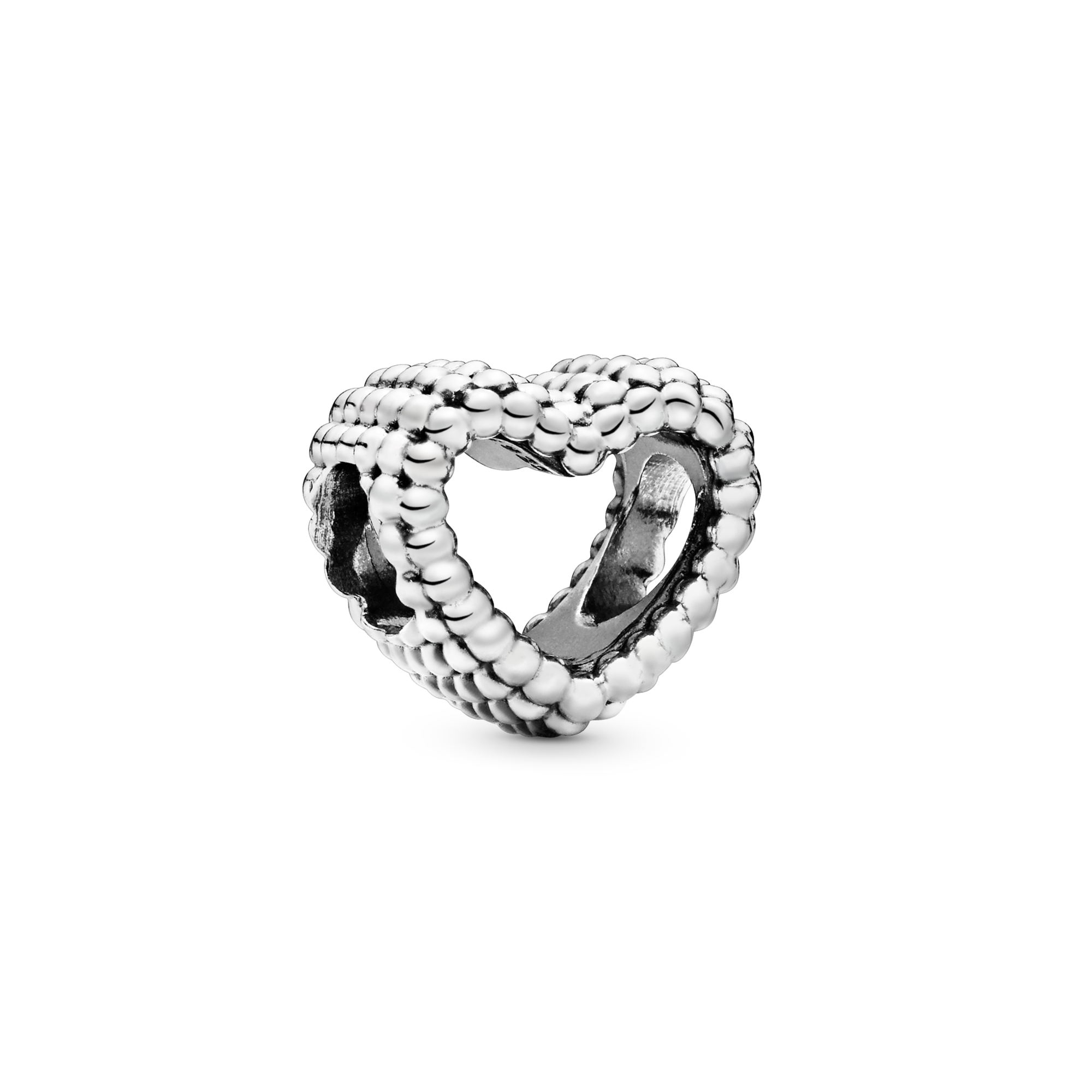 Beaded Open Heart Charm