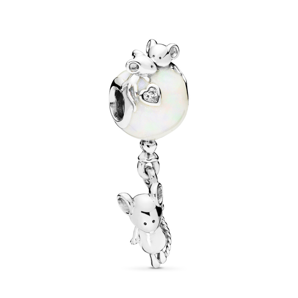 Mouse and Balloon Charm
