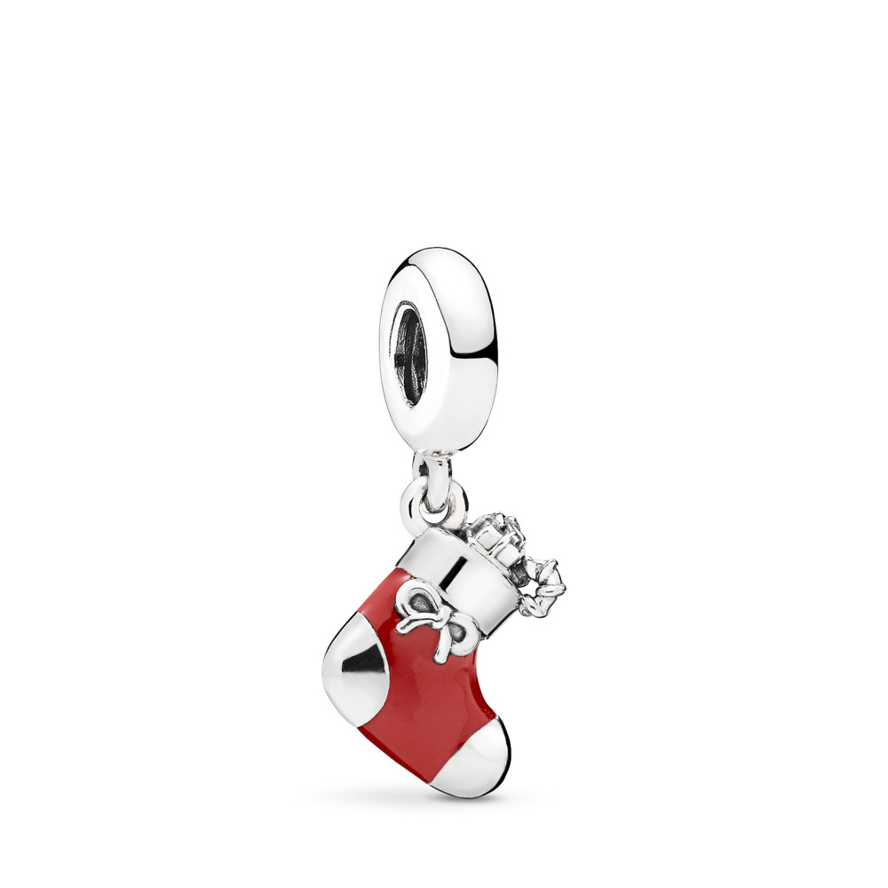 Festive Stocking Pendant Charm