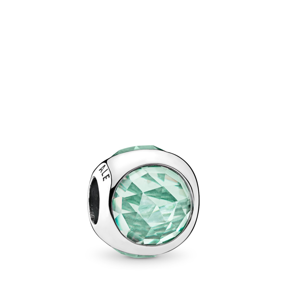 Icy Green Radiant Droplet Charm