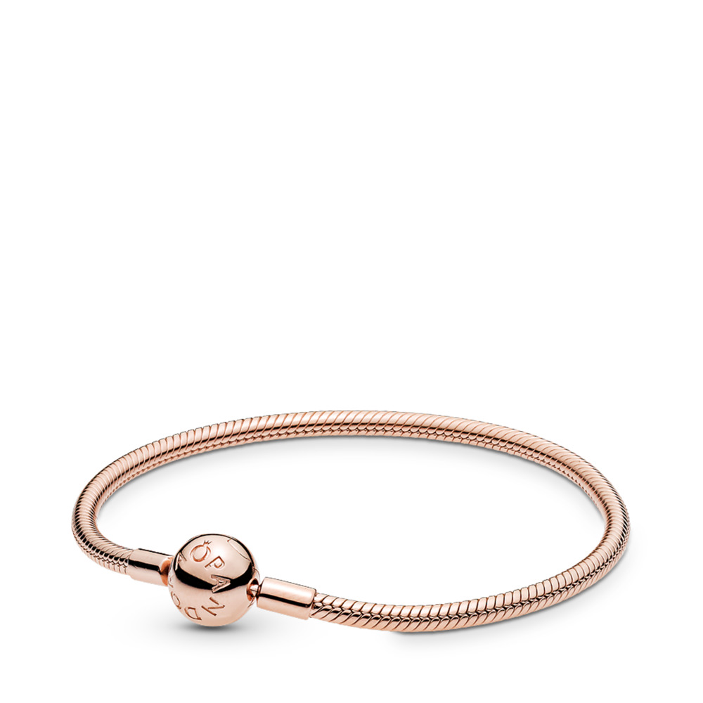 Moments Smooth PANDORA Rose Clasp Bracelet