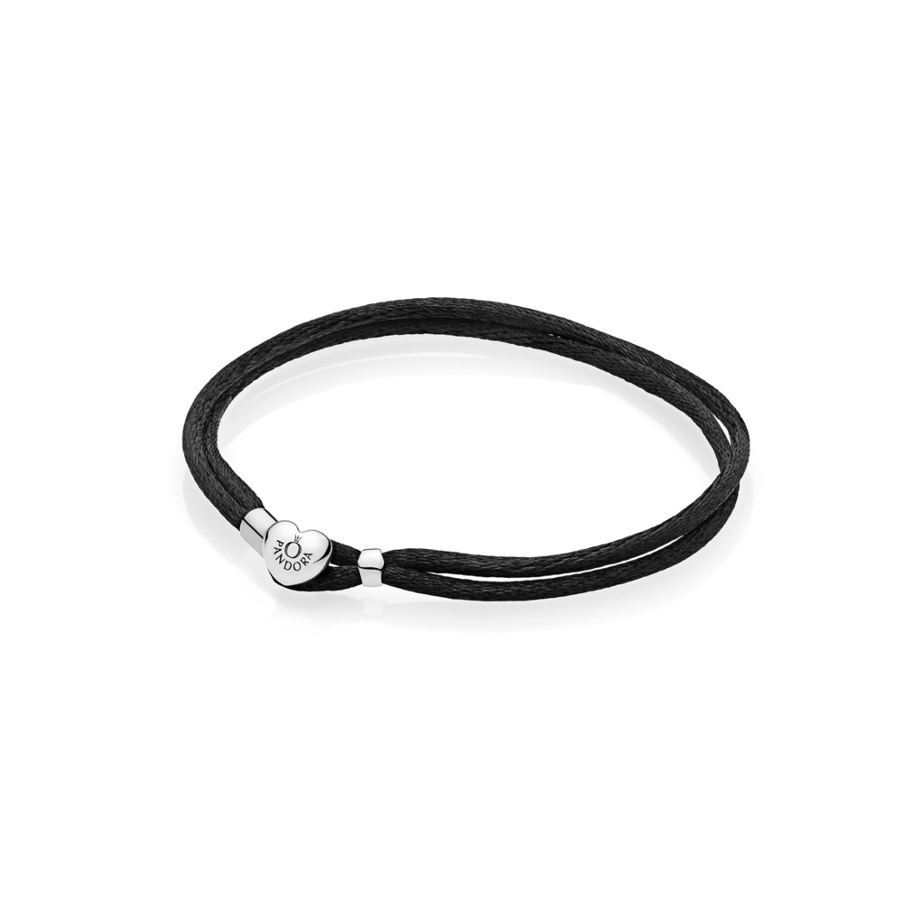 Moments Fabric Cord Bracelet, Black