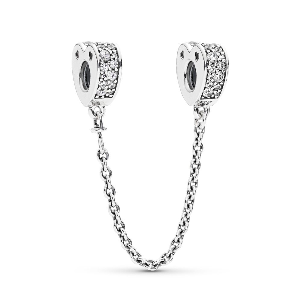 Sparkling Arcs of Love Safety Chain