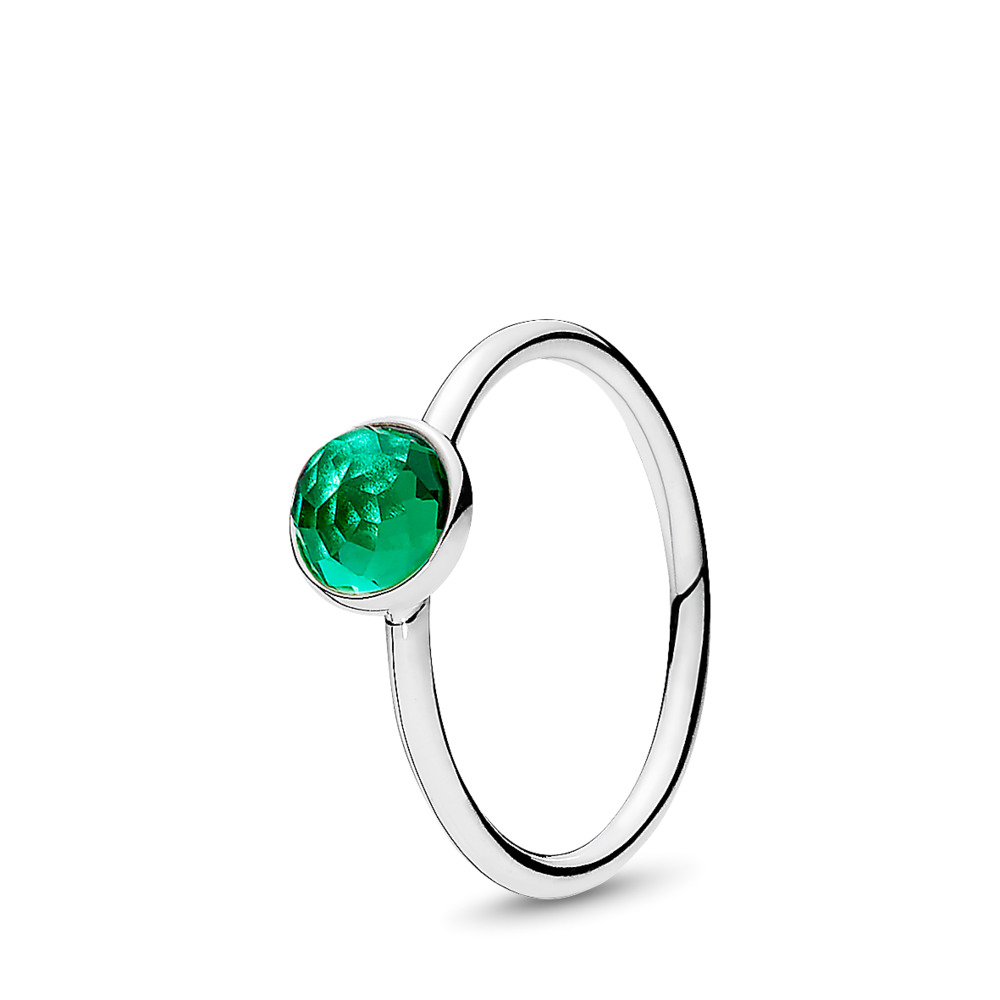 May Droplet Birthstone Ring