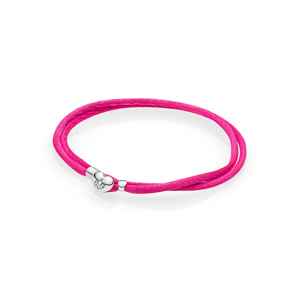 Moments Fabric Cord Bracelet, Hot Pink