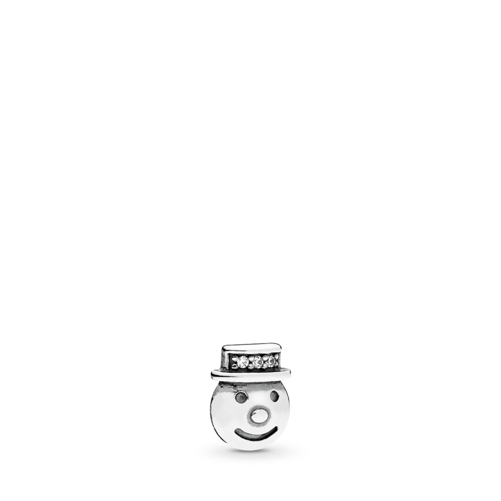Happy Snowman Petite Locket Charm