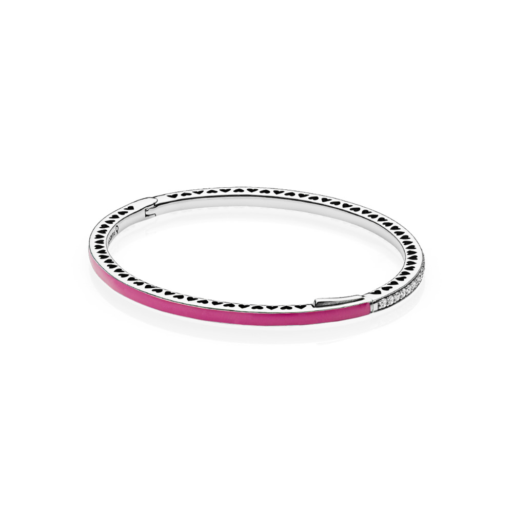 Cerise Radiant Hearts of PANDORA Bangle