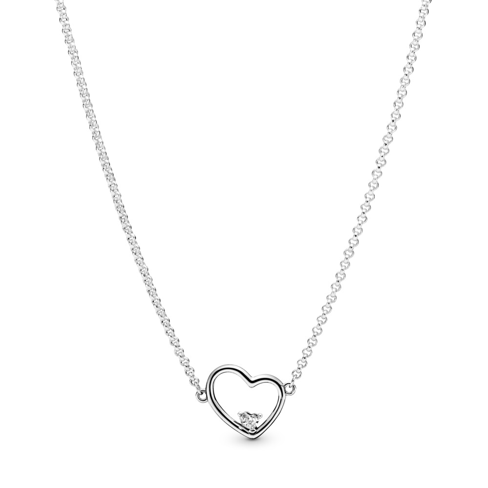 Asymmetric Hearts of Love Necklace