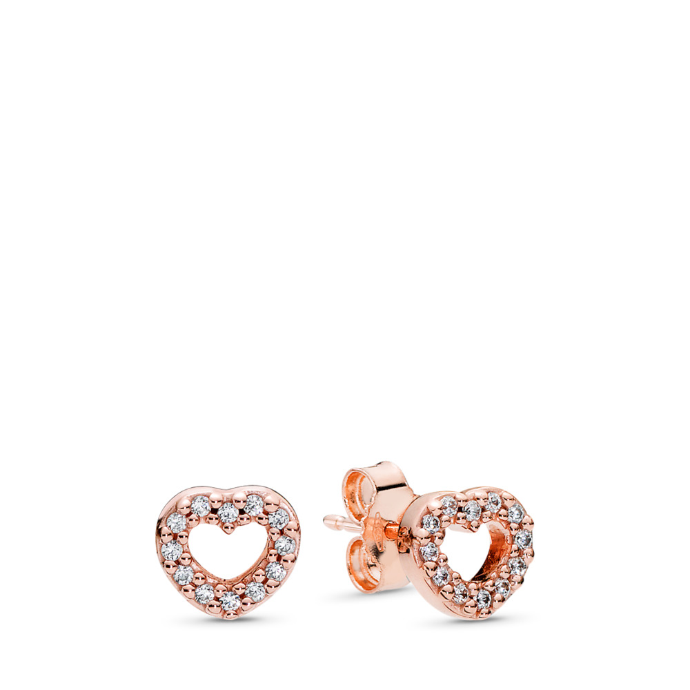 Captured Hearts Stud Earrings