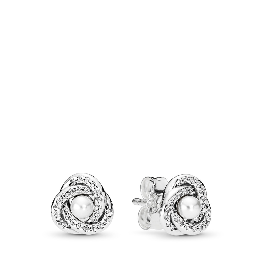 Luminous Love Knots Stud Earrings